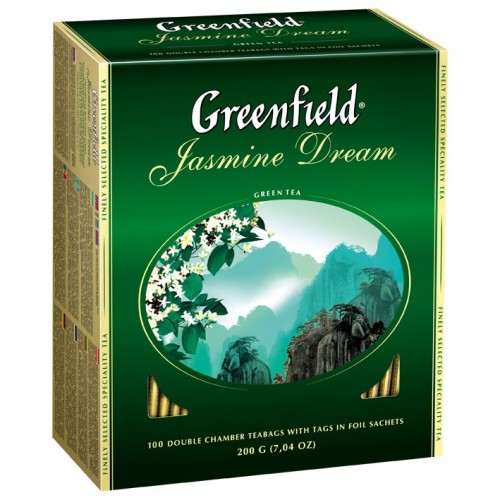 Greenfield Jasmine Dream, пакетированный, 100 пакетиков
