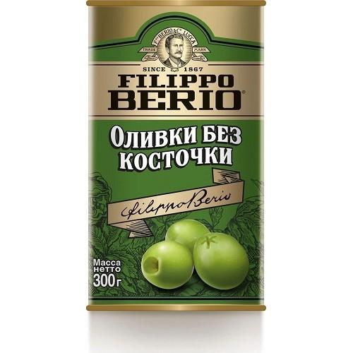 Filippo Berio оливки без косточки, 300 гр