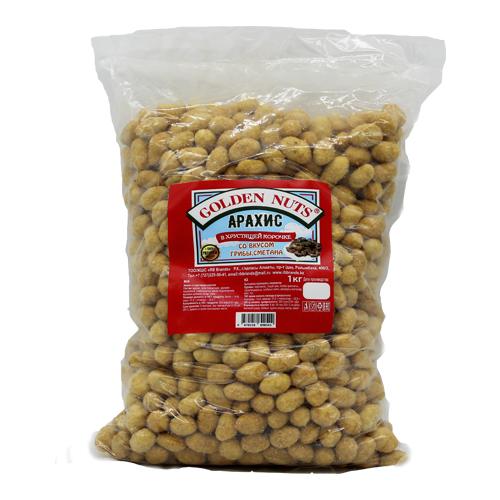 Golden Nuts Арахис в хрустящей корочке, грибы и сметана, 1 кг.