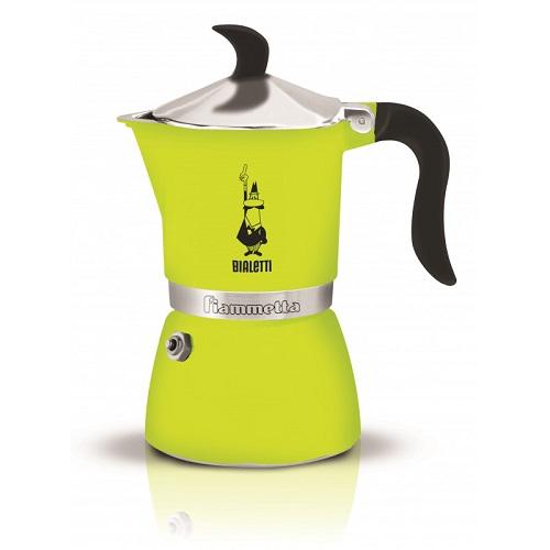 Bialetti Fiammetta Lime гейзерная кофеварка на 3 порции