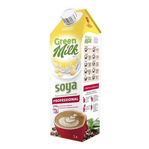 Green Milk Professional напиток соевый обогащенный кальцием и витаминами, 1л