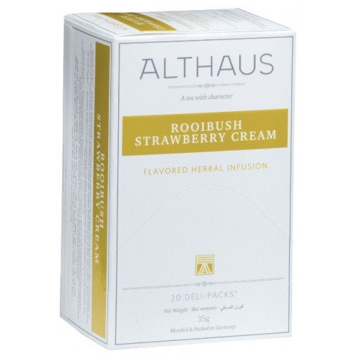 Althaus чай Rooibush Strawberry Cream, 20 пакетиков