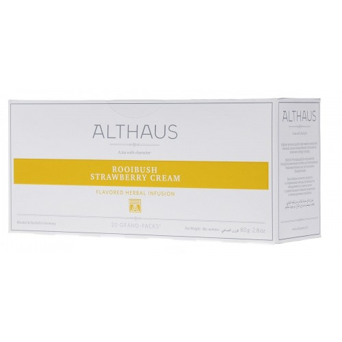 Althaus чай Rooibush Strawberry Cream, 20 пакетиков для чайника