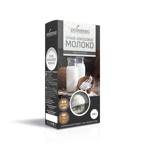 Polezzno молоко кокосовое, сухое, 100 гр