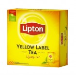 Lipton черный чай Yellow Label, 100 пакетиков