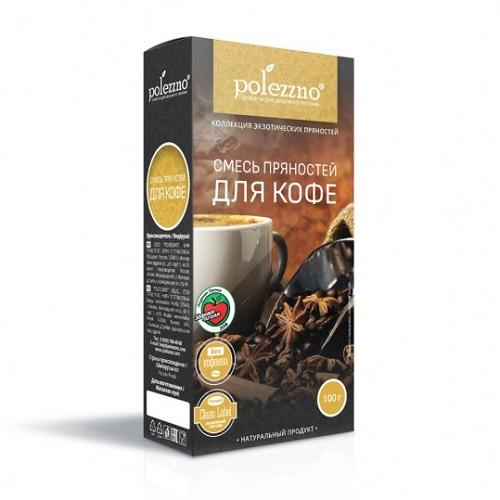 Polezzno смесь пряностей для кофе, 100 гр