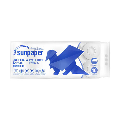 Sunpaper Professional туалетная бумага премиум, 10 рулонов