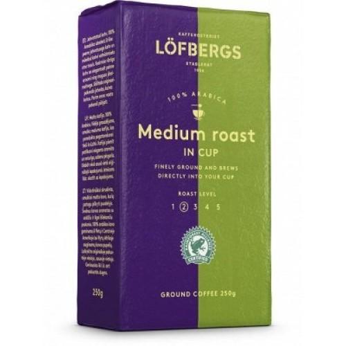 Lofbergs Medium Roast In Cup, молотый, 500 гр