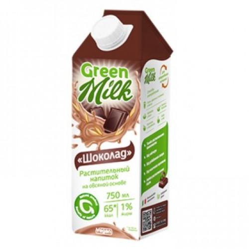 Green Milk напиток на овсяной основе Шоколад, 750 мл